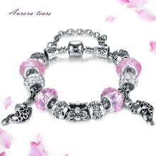 Bracelets for Women Charm Female Fashion Bracelet Jewelry Crystal Stone Bead Crown Bangles Handmade Wedding Bridal Girl Gift