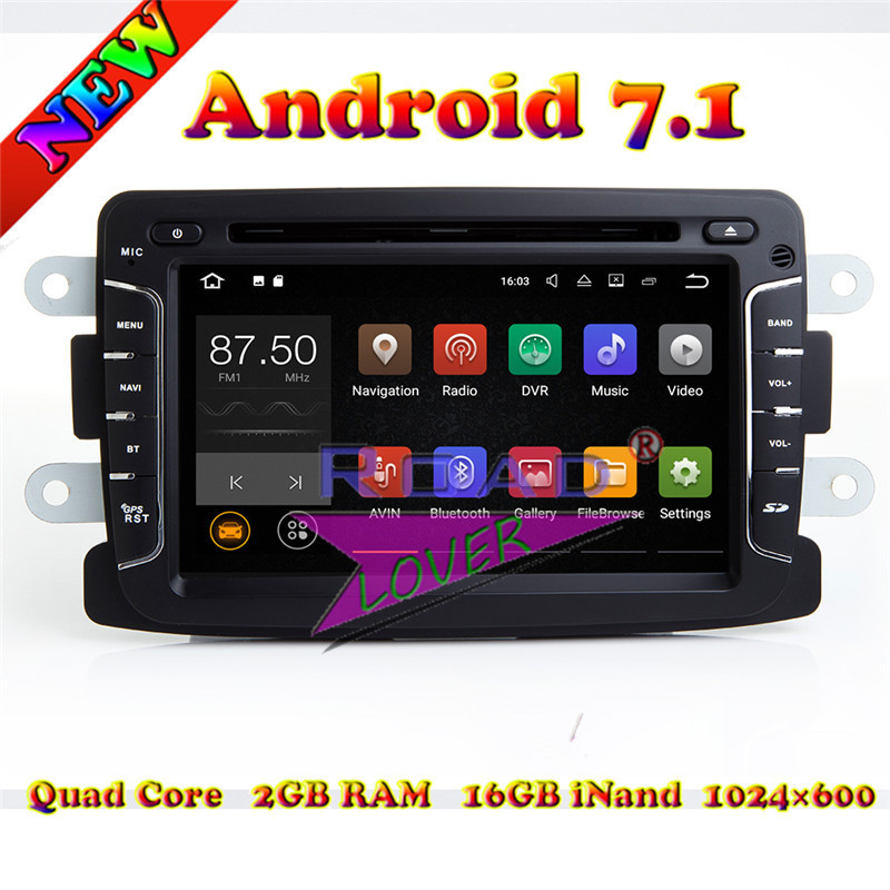 TOPNAVI 2G+16GB Android 7.1 Car PC Syetem Head Unit DVD Auto Player For Renault Dacia/Duster/Logan Sports Stereo GPS Navigation