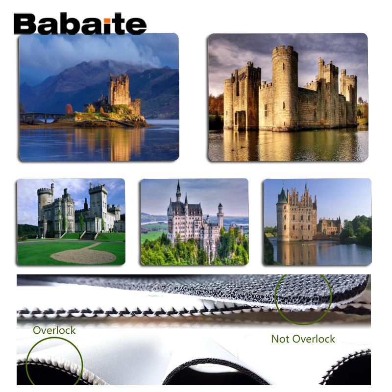 Babaite Non Slip PC Castle Computer Gaming Mousemats Size for 18x22cm 25x29cm Rubber Mousemats