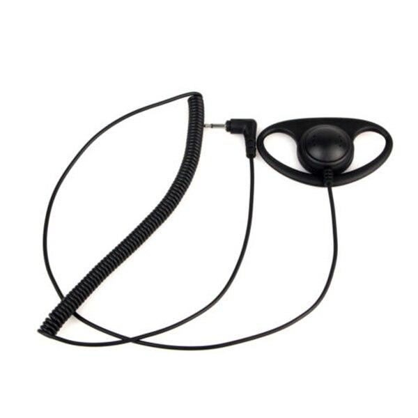 3.5MM Listen Only D Shape earphone headset Earpiece Earhook FOR SPEAKER MIC MOTOROLA KENWOOD Walkie-talkie