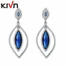 KIVN Fashion Jewelry Drop Dangle Pave CZ Cubic Zirconia Bridal Wedding Earrings for Women