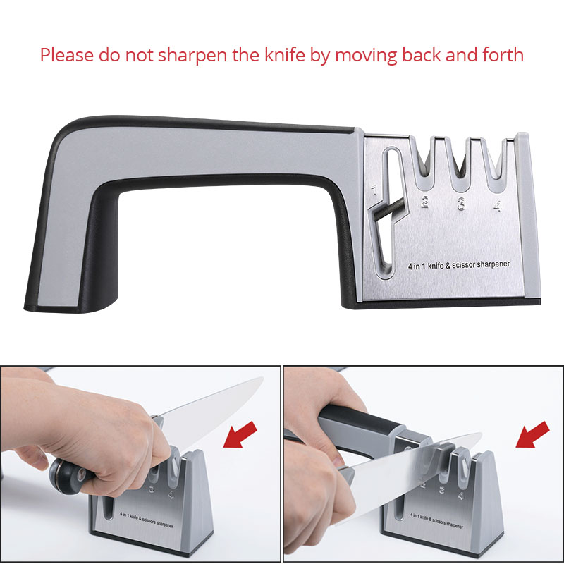 Portable Knife Sharpener System Professional 4 Stages Stones for Kitchen Fruit Knife Become Sharper Sharpening Tools Easy To Use 1