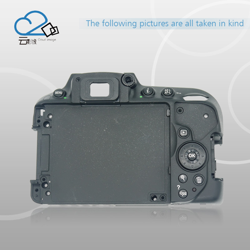 D5300 Rear Back cover shell for Nikon D5300 with key buttons FPC flex cable Camera repair parts d7000 rear back cover shell with lcd button fpc for nikon d7000 for nikon