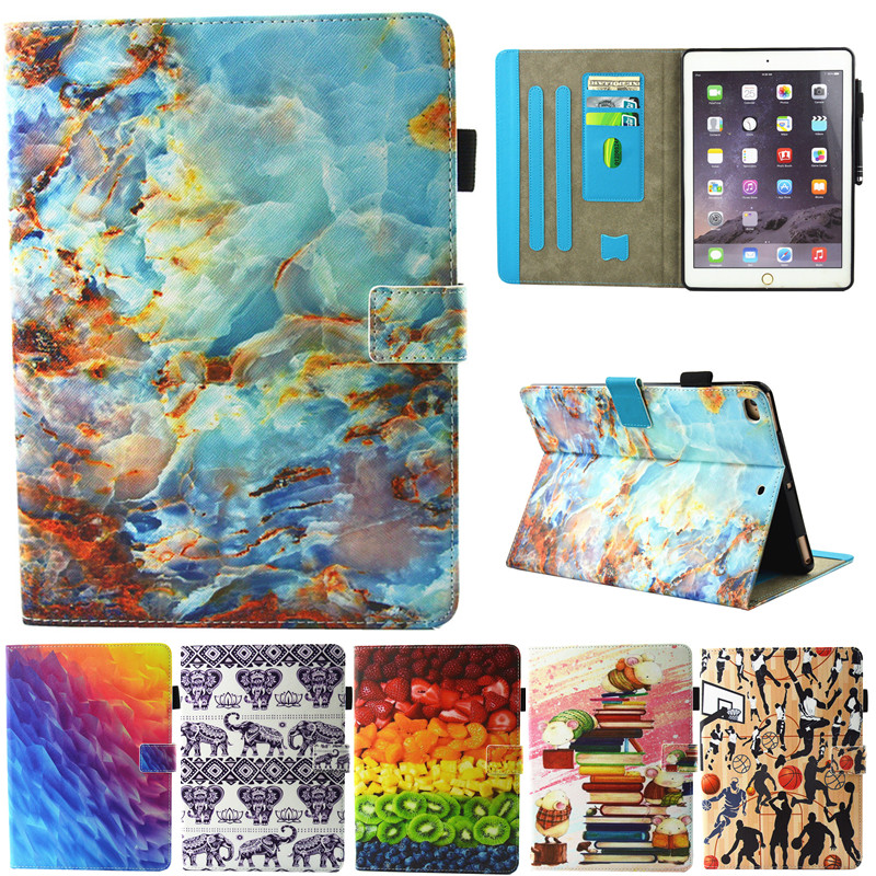 for Apple ipad Air ipad5 Tablet Case PU Flip Leather Stand Cute Basketball Fruits Marble Cover for ipad 5 ipad air Fundas Coque for apple ipad air case flip stand cover pu leather leopard series rotate protective tablet cover coque funda capa