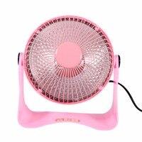 Mini Electric Heater Desktop Electric Fan Heater Warmer Winter Home Applicance Bedroom Garden US Plug 220V