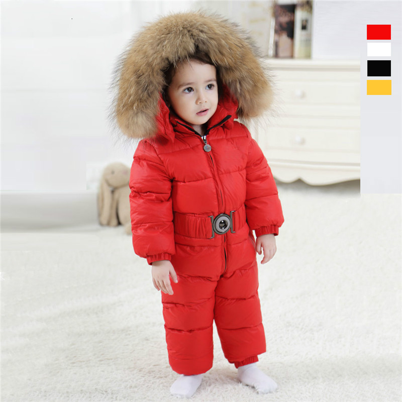 Baby Winter Down Clothes Baby Romper Thick Warm Baby Boy Girl Clothing Long Sleeve Hooded Jumpsuit Kids Newborn Outwear For 0-2T  newborn baby romper winter clothes hooded cotton outdoor roupas para recem nascido long sleeve baby boy winter thick 607022