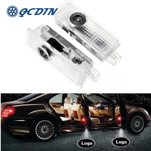 QCDIN 2Pcs LED Car Logo Door Welcome Light Decoration Shadow Projector Easy Installation for Range Rover Discovery 4 Aurora