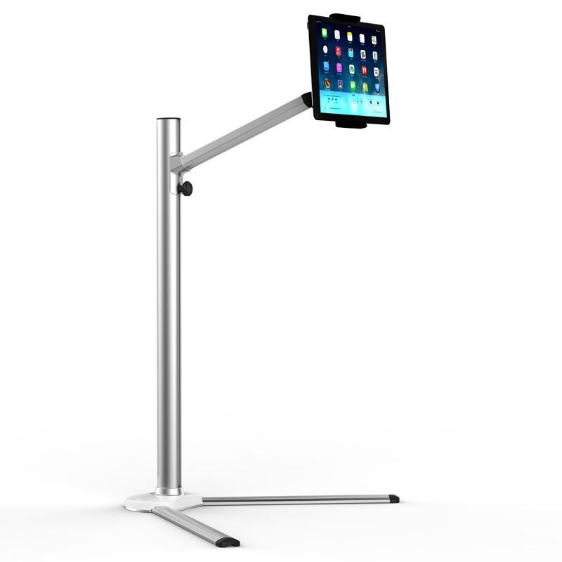 up6 height adjustable mobile phone tablet floor stand aluminum alloy rotation lazy people - Ipad Floor Stand