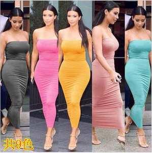 5ded99109429 AINIAINI Summer Long Dress Sexy Bodycon Women s Clothing
