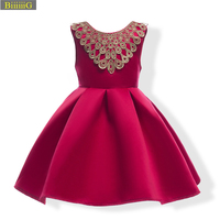 Girl Sleeveless Wedding Princess Dresses Formal Birthday Prom Party Baby Girls Dress New Brand Blazer Cinderella