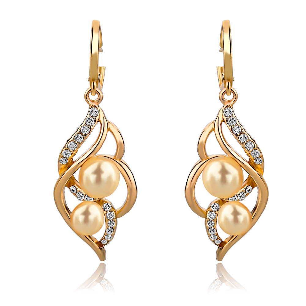 LongWay Wedding Charm Earrings For Women With simulated Pearl Drop ...