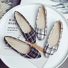 WHOHOLL Soft Shoes Women Flats Slip-on Casual Woman Fashion Ladies Big Size 42 Comfortable