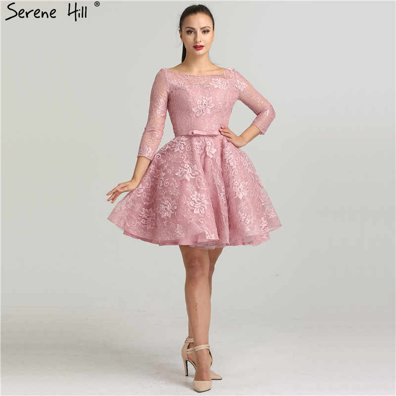 7f7d0341050 ... Fashion Lace Simple Sexy Short Evening Dresses Knee-Length Ball Gown  Formal Evening Gowns 2019 ...