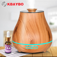 Aroma Essential Oil Diffuser Ultrasonic Air Humidifier With Wood Grain Electric LED Lights Aroma Diffuser For