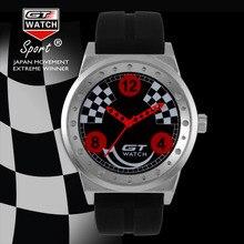 GT RELOJ Auto Racing Maestro de Deportes Relojes Hombres Militrary Piloto Correa de Silicona de Cuarzo de Moda Reloj de Pulsera de Los Hombres Reloj Clásico