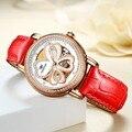 2018 Горячие благородные Роскошные Брендовые Часы TEINTOP водонепроницаемые красные кожаные Светящиеся женские часы Relogio Feminino
