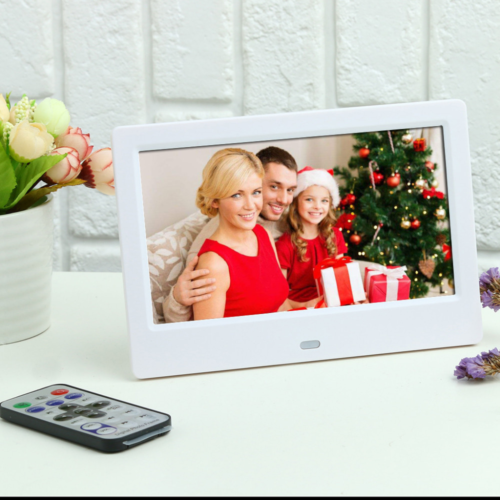 7inch Digital Photo Frame Full HD LCD Digital Photo Picture Frame with Remote Control Alarm Clock Slideshow MP34 Player 40MR12 (1)