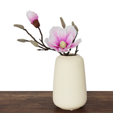 INDIGO-Real Touch Magnolia Free Shipping Short Mangnolia Decorative Artificial Flower Wedding Flower Home Decoration Living Room