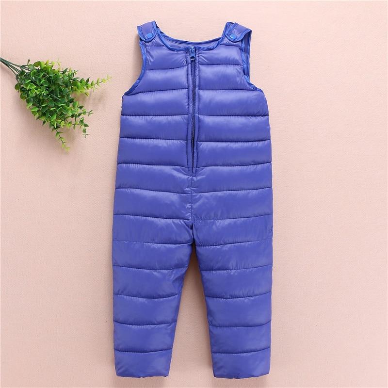 becb8f003 Children s Winter Jumpsuit Overalls Rompers Kids Winter Baby ...