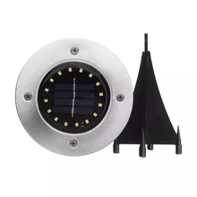 Solar Powered LED Ground Buried Light Waterproof Garden Pathway Deck Disk LED Solar Lighting for Home Yard Driveway Lawn Road solar stainless underground 8 light heads 16 led brick deck lamp solar floor buried light garden pathway spot lighting