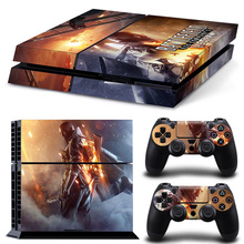 Protector Video Game Cover Sticker For Sony PS4 PS 4 Console Skin + 2Pcs Controller Stickers Decal