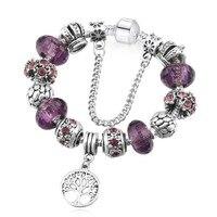f9ad808e46e1 With Box SPC Ishay Silver Plated Heart Charm Bracelets Bangles Crystal  Glass Beads Bracelets For