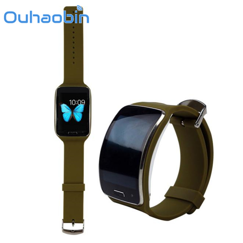Ouhaobin 250mm*23mm Replacement Watch Wrist Strap Wristband for Samsung Galaxy Gear S R750 Gift Sep 21