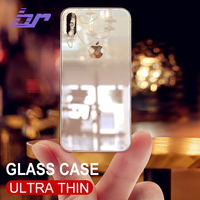 BR Luxury Glass Case For iPhone X Cases Ultra Thin Transparent Back Glass Cover Case For iPhone X 10 Soft TPU Edge Slim Glossy