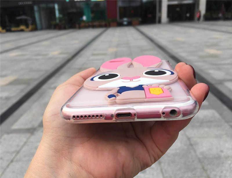 3D Leuke Konijn Telefoon Geval voor Samsung Galaxy S2 S3 S4 S5 Mini S6 S7 Rand S8 S9 S10 Plus lite 5G s10e Cartoon Back Cover Cases