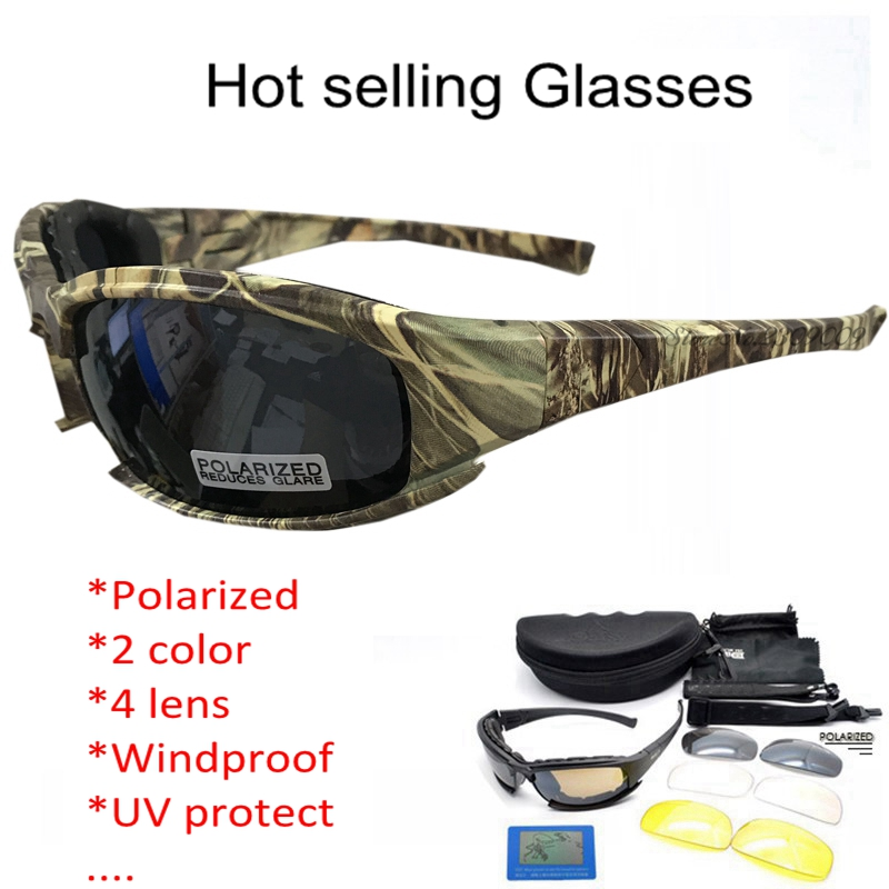 Army Goggles Solglasögon Män Militär Solglasögon Man 4 Lins Kit For Men's War Game Tactical Glasses Outdoor