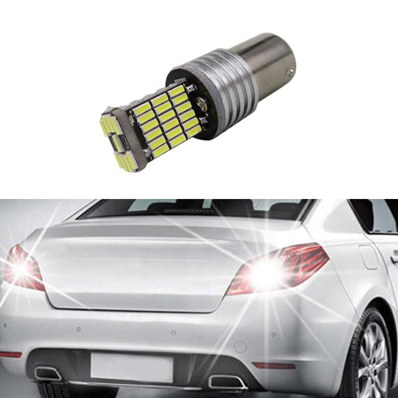1x 1156 <font><b>P21W</b></font> Canbus <font><b>No</b></font> <font><b>Error</b></font> <font><b>LED</b></font> Rear Reversing Tail Light Bulb For peugeot 307 206 2008 207 308 4008 508 5008 301 image