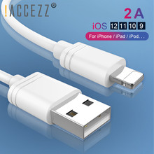 !ACCEZZ 3M USB Charging Cable For iPhone XS Max XR X 8 7 6 6s Plus 5 5S SE iPad Fast Data Cables Lighting Pin Wire 1M 2M 0.25M