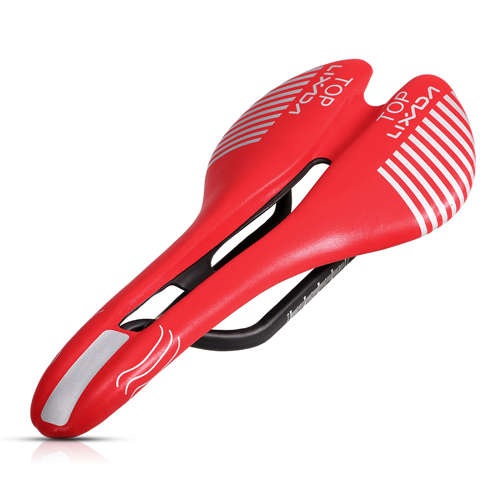 902297bd0fcb Lixada Carbonfiber Bike Saddle Red   Black   White Cycling Saddle Ultralight  MTB Road Bike Saddle Bike Accessary-in Bicycle Saddle from Sports ...