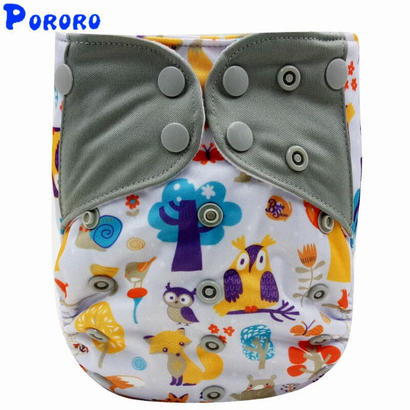 Baby Reusable Cloth Diaper Cover Digital Printed Diaper Pocket Fitted Diaper  Baby Girl Boy Cloth Nappies PUL AIO Diaper Cover
