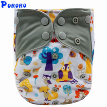 Baby Reusable Cloth Diaper Cover Digital Printed Pocket Fitted  Girl Boy Nappies PUL AIO