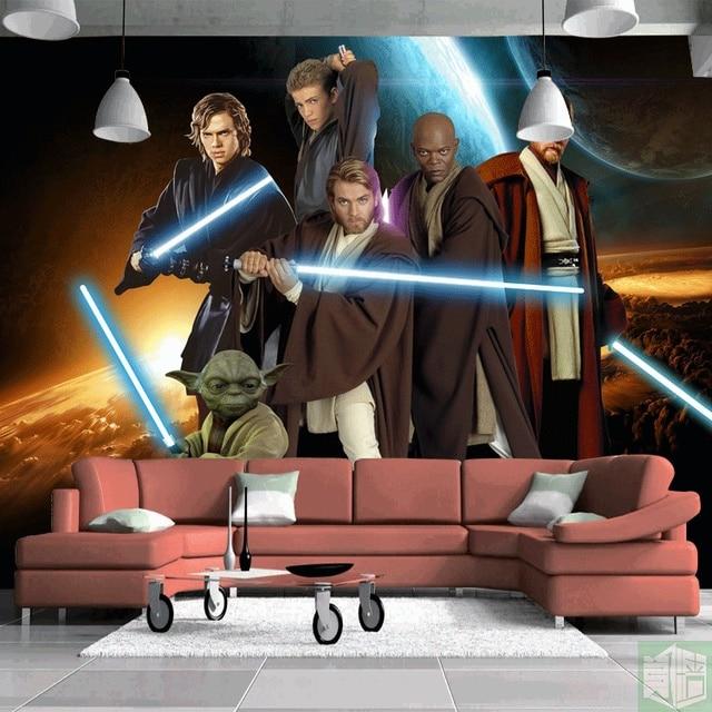 Star Wars Photo Wallpaper Custom Wallpaper Classic Movie 3D Wall Mural Boys  Kids Girls Bedroom Sitting Part 85
