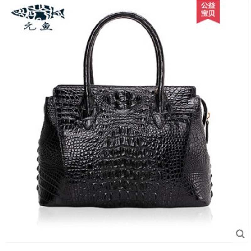 yuanyu New crocodile handbag for ladies genuine leather imported crocodile handbag handbag crocodile print large capacity bagyuanyu New crocodile handbag for ladies genuine leather imported crocodile handbag handbag crocodile print large capacity bag
