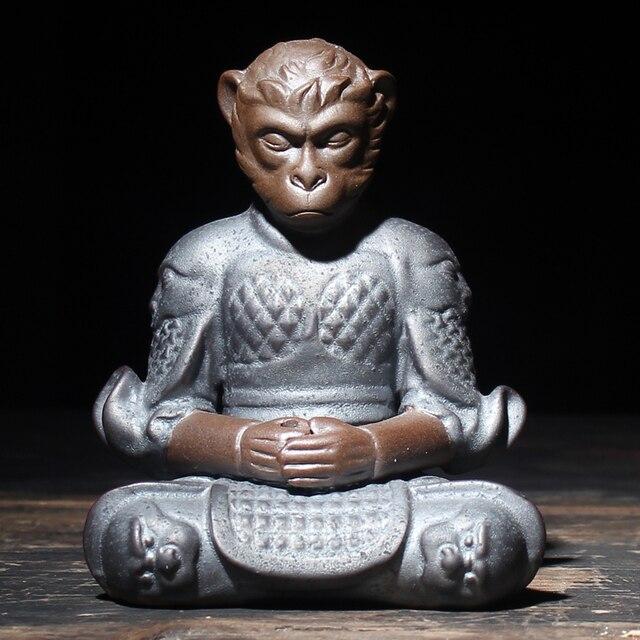 Zen Бутик Король Обезьян Чай Животное Палкой Курильница Кунг-Фу Чай набор Ци Тянь Да Шэн Творческий Керамика Солнце Укун Home Decor новый