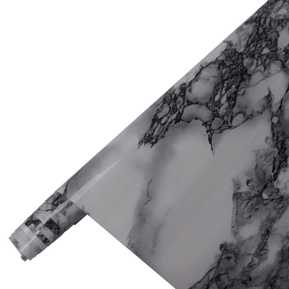 HOHOFILM 1.22x50m Marble Sticker Glossy Vinyl Wrap for Home Table Furniture Office Sticker Vinyl 48''x164ft - 3