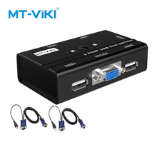 MT-VIKI 2 Port VGA KVM Switch Two hosts share a set of mouse keyboard Printer and display Manual switching HD1920*1440P MT-260KL