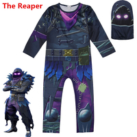 New Game Battle Royale The Reaper Cosplay Costume Children Kids Skin Zentai Bodysuit Jumpsuits Mask Party Halloween Suits