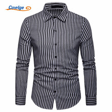 Covrlge New Arrival Mens  British Style Striped Shirts Casual High Quality Fashion Design Dress MCL199