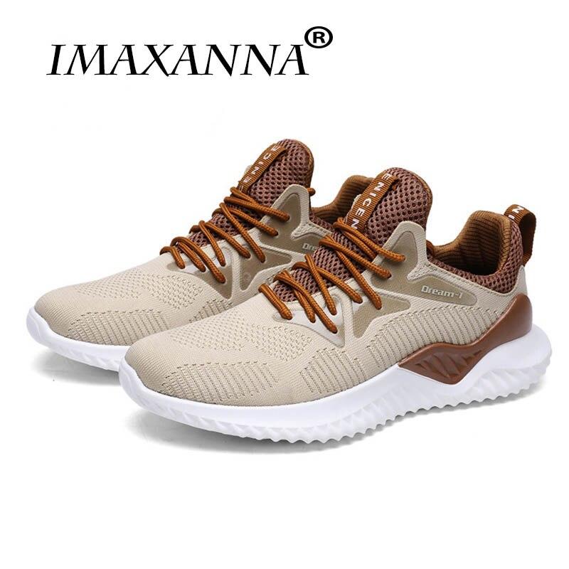 IMAXANNA 2018 nouveau sport d'été homme baskets tendance homme baskets grande taille 39-46 confortable respirant chaussures de course à lacets