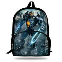 New Designer Children School Bags Cool High Student Boys Backpack 3D Pacific Rim: Uprising Movie Print Kids Bookbag