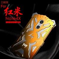 Zimon Brand Mobile Phone Case For Xiaomi Redmi Note 4x Gold Black Silver Metal Telephone Accessory