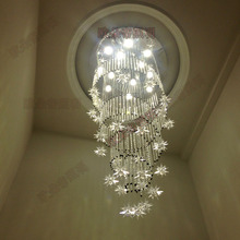 Кристалл сочетание освещение потолка лампы спираль длинный поворот лестница света двойная гостиная лампы современных кристалл лампы ZA