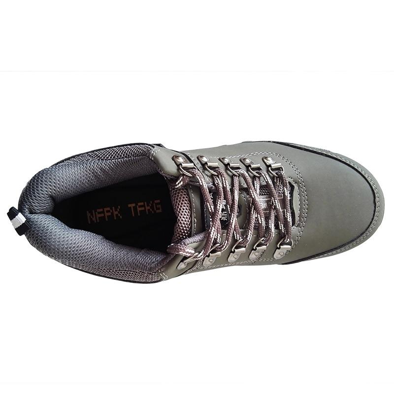 Sapatos Moda Respirável Segurança Color De Genuína Botas Alta Couro Ferramentas Aço Tampas Biqueira Homens Trabalho Do Zapatos Tamanho Picture Qualidade Dos Grande gq60Cp