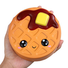 Jumbo Cheese Chocolate Biscuits Cute Squishy Slow Rising Soft Squeeze Toy Phone Strap Scented Relieve Stress Funny Kid Xmas Gift(China)