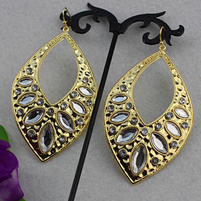 Ms white gem yakeli horse eye match popular jewelry wholesale girls birthday party earrings free shipping! ...
