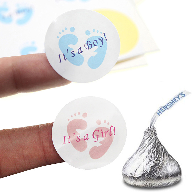 24/100pcs It's A Boy/It's A Girl Round Sticker Labels Gender Reveal Stickers Newborn Baby Shower Party Favor Candy Box Gift